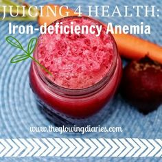 Juicing and iron-deficiency anemia Healthy Green Smoothies, Healthy Juices, Healthy Drinks, Healthy Eating, Healthy Recipes, Detox Drinks, Healthy Foods, Clean Eating, Foods With Iron