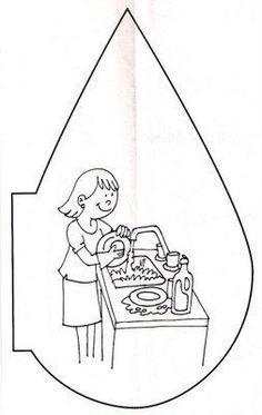 Hoy día mundial del Agua ostraemos recursos recopilatorios sobre el agua El agua es un elemento líquido que se en... Sorting Activities, Water Activities, Science Lessons, Science For Kids, Coloring For Kids, Coloring Books, Planet Crafts, Water Poster, Blog Backgrounds