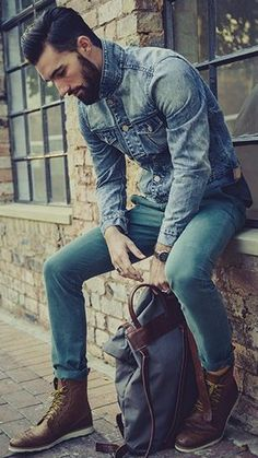 Dark and Denim. Beards just aren't for the wilderness nuts or the lumberjacks, fashionable guys are loving it to!