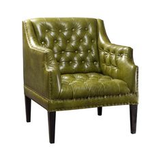 Go classic with a twist in your living room. The Cora Club Chair is stunningly upholstered in green leather, adding a decorative punch to perk up the décor in a library, den, or living area. A classic ...  Find the Cora Club Chair, as seen in the The Billiards Room Collection at http://dotandbo.com/collections/the-billiards-room?utm_source=pinterest&utm_medium=organic&db_sku=109814