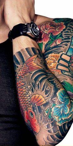John Mayer's sleeve tattoo by Horimitsu. By Horimitsu.