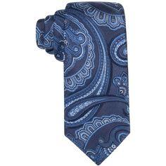 Tasso Elba Men's Ravenna Paisley Classic Tie, (3.845 RUB) ❤ liked on Polyvore featuring men's fashion, men's accessories, men's neckwear, ties, navy, mens ties, mens navy tie and mens paisley ties