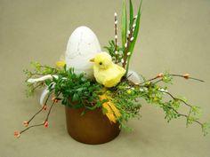 KURCZAK JAJKO CERAMICZNE walec brąz (2582) Kompozycje kwiatowe Marko604