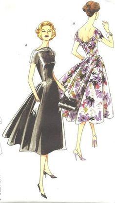 1956 Vogue Vintage Reproduction Dress Pattern