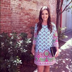 Neo Tapestry Dress  Host Pick This quarter sleeve neo tapestry print shift dress has a loose fit and single button back . Dresses Mini