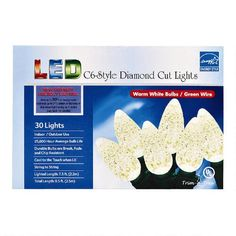 One of my favorite discoveries at ChristmasTreeShops.com: White Diamond-Cut 30-Bulb String Lights