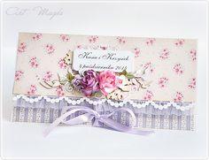 ArtMagda wedding card in violet