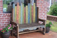 Recycled Pallet Charming Outdoor Bench | 101 Pallets