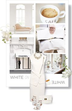 """""""Trend: White on White"""" by minnieromanovich ❤ liked on Polyvore"""