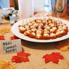 How to make caramel apple bites First Birthday party Fall themed birthday