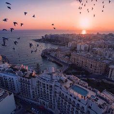 Sunset, St. Julians, Malta.