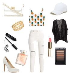 """""""pineapple  🍍🍍🍍🍍"""" by nur123 ❤ liked on Polyvore featuring Jessica Simpson, Red Herring, Sole Society, INC International Concepts and Bobbi Brown Cosmetics"""
