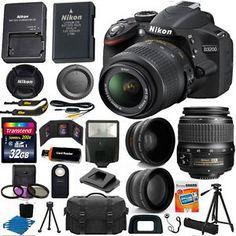 Nikon D3200 Digital SLR Camera 3 Lens Kit 18-55mm Lens + 32GB Best Value Bundle