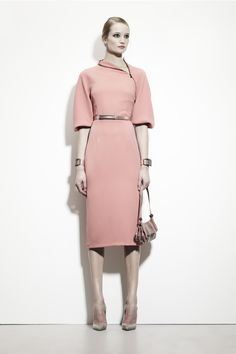 Bottega Veneta Pre Fall 2013 Pink Front Zip Dress...Love this dress, must make it for myself.....