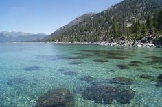 Turquoise water at Lake Tahoe, CA