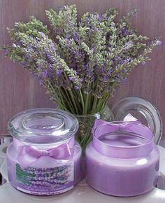 .Lavender Candles - Soothe Your Cares Away!