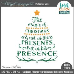 - The Magic of Christmas. Sold By FunLurn SVG FilesSmall business commercial useAvailable in SVG, DXF, EPS and Ai formats.Works in Cricut Designs space andSilhouette Studio Basic,Silhouette Designer Edition andSilhouette Business Edition Christmas Shirts, Christmas Cards, Christmas Decor, Christmas Ideas, Xmas, Silhouette Art, Silhouette Machine, Homemade Crafts, Easy Crafts