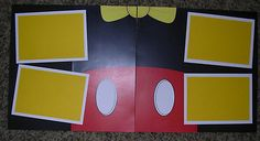 Disney Scrapbook Pages Two Page 12x12 Layout Premade Pages Mickey New   eBay