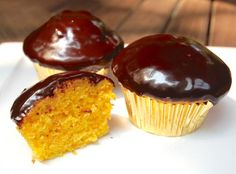 These sweet golden cupcakes get their color from carrots, but they definitely taste like a dessert.