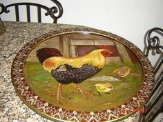 Petisqueira galinha,barra geometrica/desenho exclusivo R$ 420,00