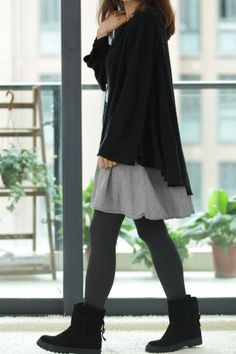 This is a two-piece design, with weight sweater, good quality, simple and elegant, casual relaxed version.  【Fabric】 cotton 【Color】  black, Bice, brown