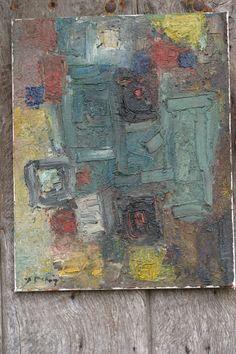 Composition 40 x 50cm. Huile sur toile.