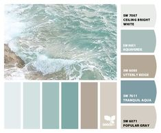 Paint colors from ColorSnap by Sherwin-Williams Beach House Colors, Beach House Decor, Home Decor, Paint Color Schemes, Kitchen Color Schemes, House Color Schemes Interior, Beach Color Schemes, Bathroom Color Schemes, Living Room Color Schemes