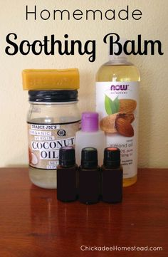 Homemade Soothing Balm (aka essential oil version of neosporin)