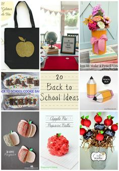 Back to School Ideas - all of these are so fun!