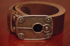 Leather Belt   Steel Buckle Door Lock  Color by CUERO925LEATHER, €20.00