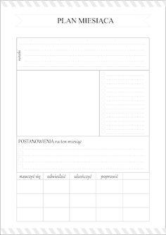 Planer miesiąca do pobrania Organization Bullet Journal, Calendar Organization, Diy Notebook, Pocket Notebook, Work Planner, Planner Pages, Study Hard, Bullet Journal Inspiration, Interactive Notebooks