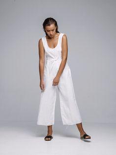 Arthur Apparel Linen Pantsuit www.coencollective.com
