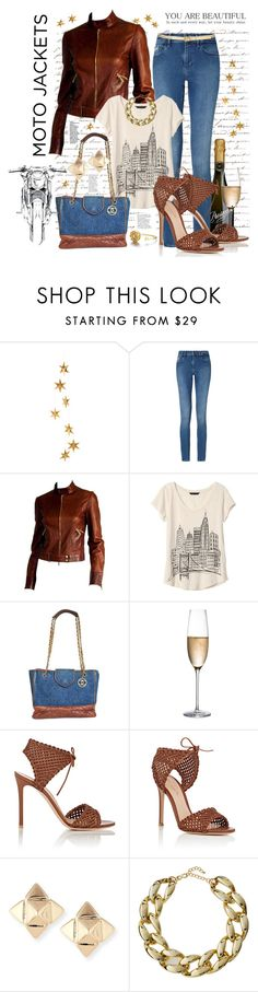 """If I had a Moto Jacket..."" by pomy22 ❤ liked on Polyvore featuring Once Upon a Time, Livingly, Calvin Klein, Tom Ford, Banana Republic, Chanel, RogaÅ¡ka, Gianvito Rossi, Valentino and Kenneth Jay Lane"