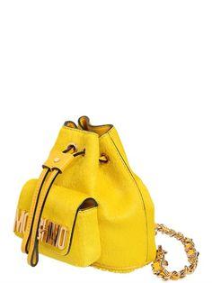 376816bb66 MOSCHINO - MINI PONYSKIN BACKPACK - LUISAVIAROMA - LUXURY SHOPPING  WORLDWIDE SHIPPING - FLORENCE Mini Backpack