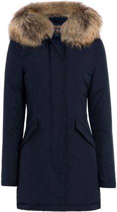 Woolrich Luxury Boulder Midnight Blue Down Coat