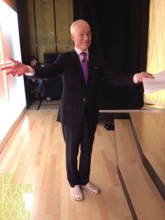 Tim Gunn in CROCKS! Proof that this actually is the end. Tim Gunn, Project Runway, Hug, Revolution, Inspirational, My Style, Pants, How To Wear, Fashion Design