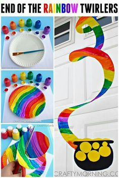 End of the Rainbow Paper Plate Twirler (St. Patrick's Day Craft for Kids) – … End of the Rainbow Paper Plate Twirler (St. Patrick's Day Craft for Kids) – Crafty Morning March Crafts, St Patrick's Day Crafts, Daycare Crafts, Classroom Crafts, Toddler Crafts, Simple Kids Crafts, Art Crafts For Kids, Simple Art And Craft, Paper Plate Crafts For Kids