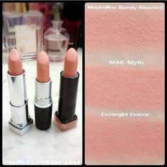 15. MAC Myth & Maybelline Barely Bloomed | Splurge Or Save: The Best MAC Lipstick Drugstore Makeup Dupes
