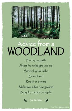 Advice from a Woodland- Postcard- Your True Nature Advice Quotes, Life Advice, Good Advice, Me Quotes, Motivational Quotes, Inspirational Quotes, Jesus Quotes, True Nature, Nature Quotes