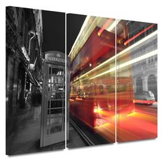 'London III' by Revolver Ocelot 3 Piece Photographic Print Gallery-Wrapped on Canvas Set