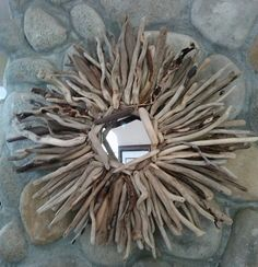 Driftwood Mirror Sunburst Chic Coastal Home by BurlgirlCreations