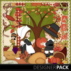 Digital Scrapbooking Kits | Give Thanks-(SPD) | Holidays - Thanksgiving | MyMemories Sweet Pea Designs