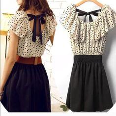 Polka dot mini dress www.lilyandco.co Dresses Mini