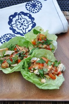 Mouthwatering Peanut Butter #Recipes - like these Tofu Lettuce Wraps with Peanut Sauce - from NutritiousEats.com