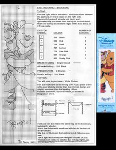 This is a pattern of Winnie and Tiger of Designer Stitches (06-2001) that is no longer for sale.