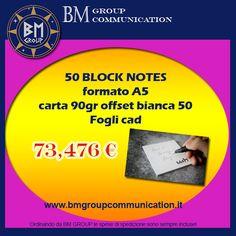 OFFERTA BLOCK NOTES!!