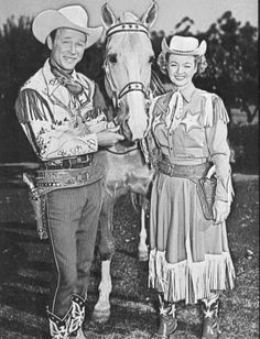 Roy Rogers and Dale Evans    We have our own cowboy couple in Bob & Bev Riley.