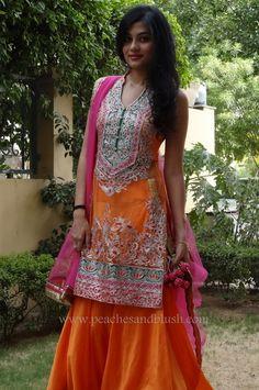 Gorgeous Orange Sharara