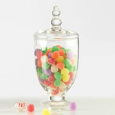 I love colorful candies in jars!  Parisian Apothecary Jar now featured on Fab.