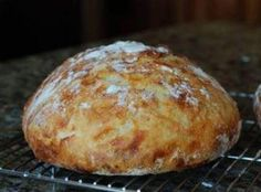 Crusty Bread In A Cast Iron Pot Recipe - Best, easiest and most consistent bread I've ever made.  I don't brown the bread for 15 more minutes because it came out too hard.